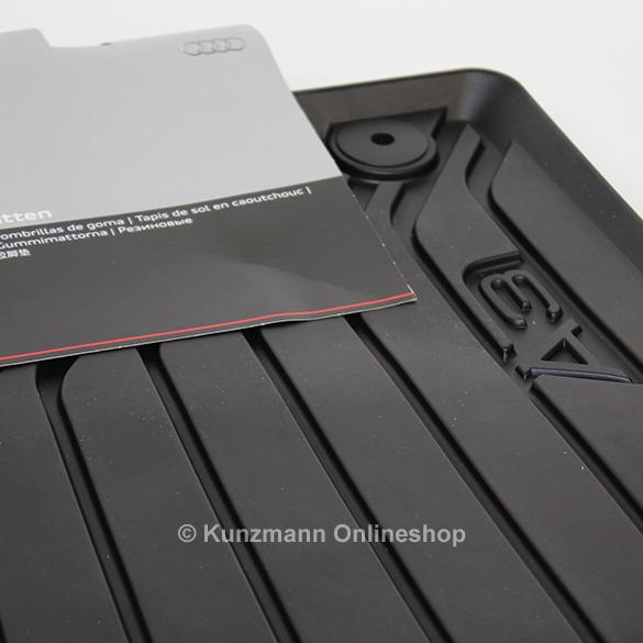 Audi A V Car Rubber Floor Mats Original Black - Audi a3 04 car mats