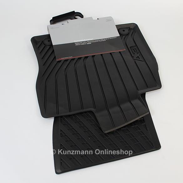 rubber audi black mats floor rear avant