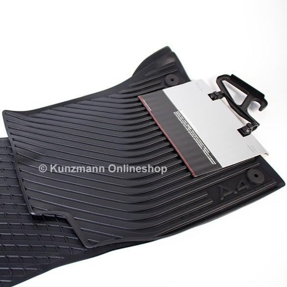audi car rubber floor mats audi a4 8k b8 original black. Black Bedroom Furniture Sets. Home Design Ideas