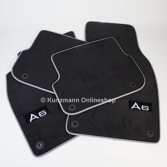 premium floor mats original audi a6 c6 genuine with a6. Black Bedroom Furniture Sets. Home Design Ideas