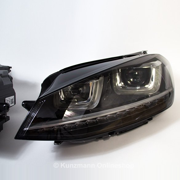 golf 7 r head lights original volkswagen with dynamic light assist. Black Bedroom Furniture Sets. Home Design Ideas