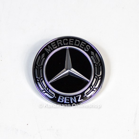 Original Mercedes Benz Nabendeckel Schwarz Mit Chromstern
