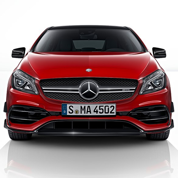 aerodynamic front bumper amg a45 a class w176 upgrade. Black Bedroom Furniture Sets. Home Design Ideas