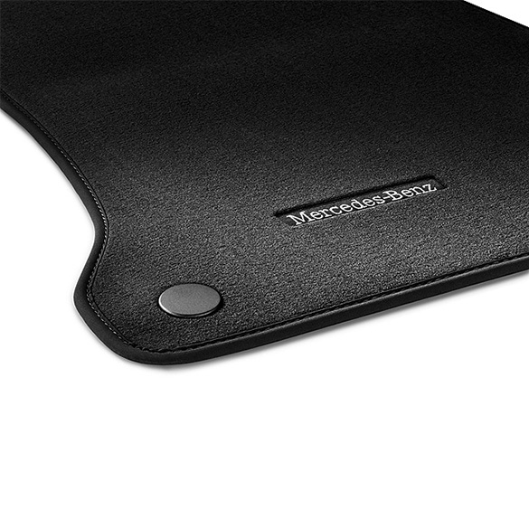 velours floor mats black c class cabrio a205 genuine mercedes benz. Black Bedroom Furniture Sets. Home Design Ideas