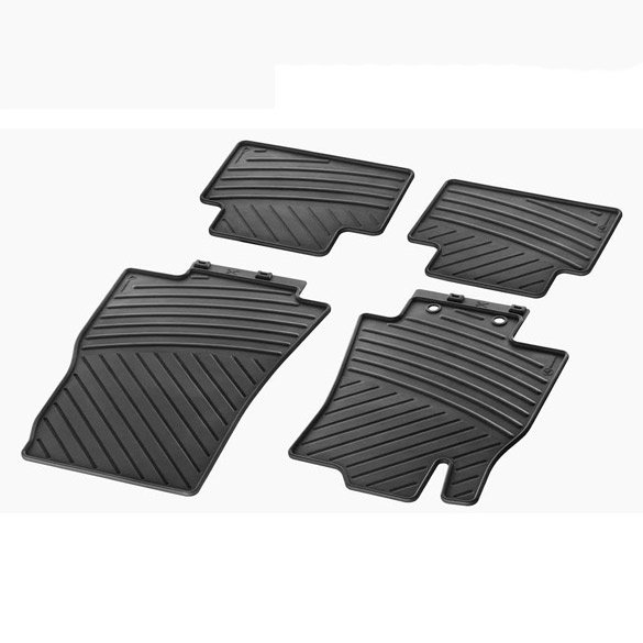 car rubber floor mats c class w203 genuine mercedes benz black. Black Bedroom Furniture Sets. Home Design Ideas