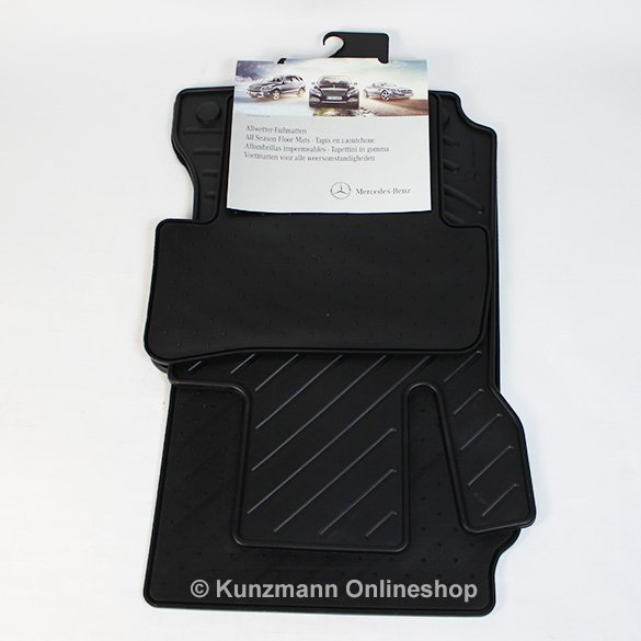car rubber mats black c class w204 genuine mercedes benz. Black Bedroom Furniture Sets. Home Design Ideas