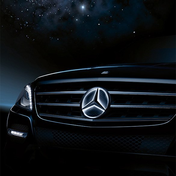 Mercedes star illuminated led technology c class w205 for Mercedes benz led star