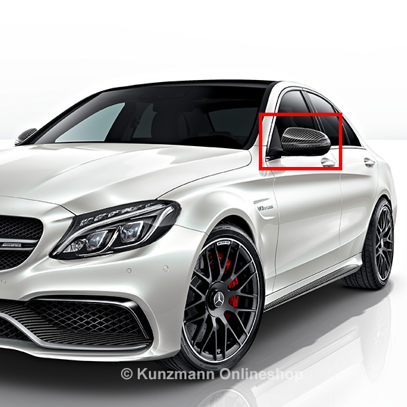 c 63 amg carbonspiegelkappen satz c klasse w205. Black Bedroom Furniture Sets. Home Design Ideas