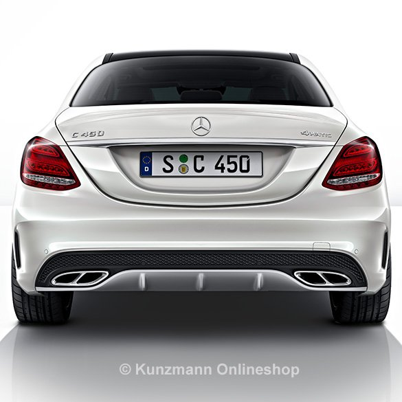 c 43 amg auspuffblenden endrohre chrom c klasse w205. Black Bedroom Furniture Sets. Home Design Ideas