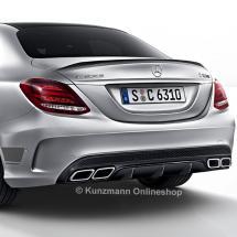 C 63 AMG rear diffusor & exhaust tips edition 1 C-Class W205 original  Mercedes-Benz