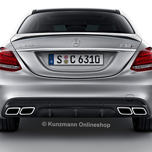 c 63 amg heckdiffusor auspuffblenden c klasse w205. Black Bedroom Furniture Sets. Home Design Ideas