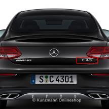 Original C 43 AMG Logo Schriftzug Kühlergrill C-Klasse W205 Mercedes-Benz NEU