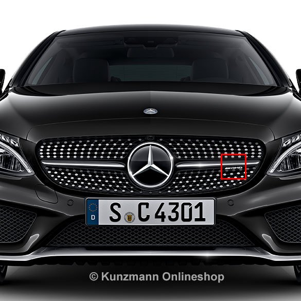 c 43 amg logo diamond radiator grille c class w205 original mercedes benz. Black Bedroom Furniture Sets. Home Design Ideas