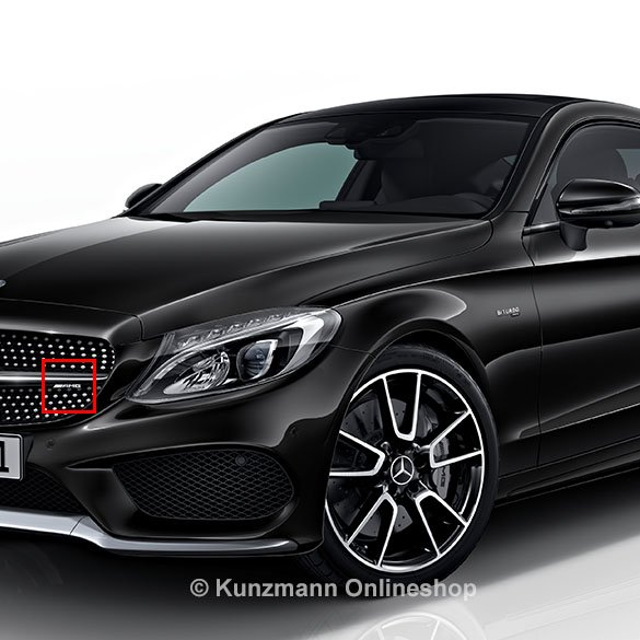 c 43 amg logo k hlergrill c klasse w205 original mercedes benz. Black Bedroom Furniture Sets. Home Design Ideas