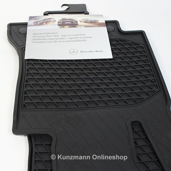 Original mercedes benz rubber floor mats c class w205 for Mercedes benz mats