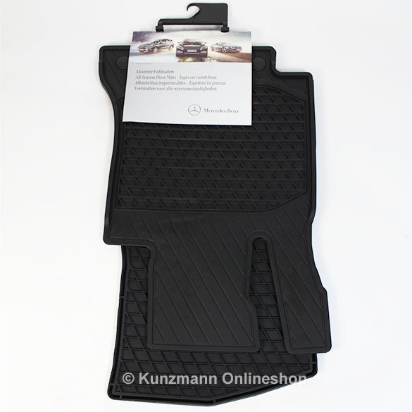 image original mercedes benz rubber floor mats c class w205 black. Cars Review. Best American Auto & Cars Review