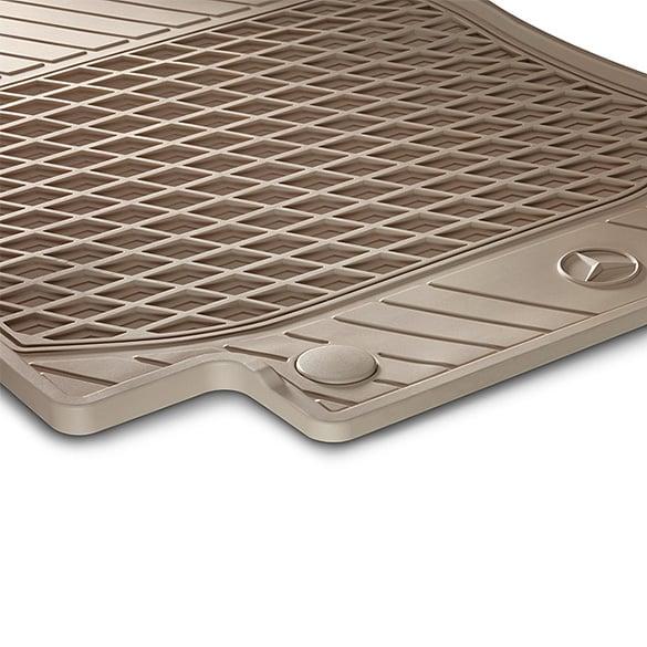 Rubber Floor Mats Silk Beige C Class W205 Original