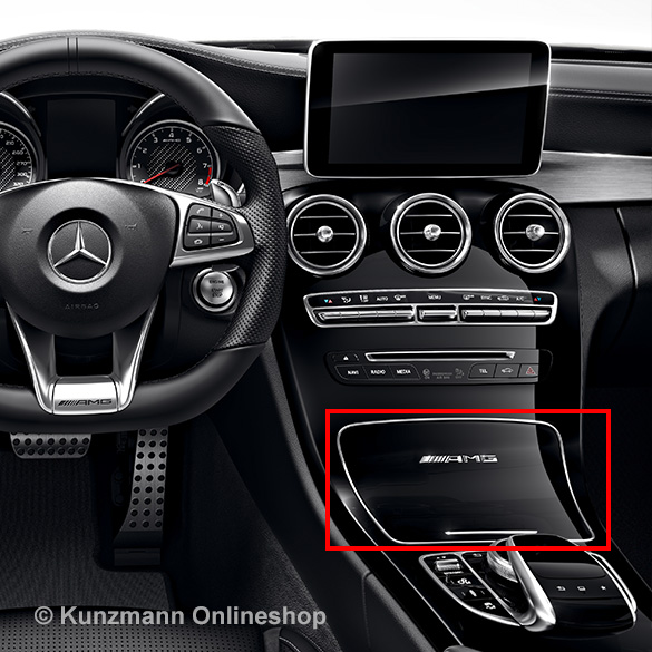 amg abdeckung mittelkonsole klavierlackoptik c klasse w205. Black Bedroom Furniture Sets. Home Design Ideas