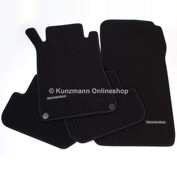 car rib floor mats mercedes clk coup and convertible w209 original mercedes benz. Black Bedroom Furniture Sets. Home Design Ideas