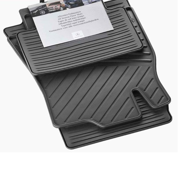 Car rubber floor mats mercedes e class w211 genuine for Mercedes benz e350 floor mats