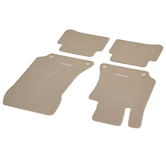 Rep floor mats silk beige 4 piece lhd e class w212 for Mercedes benz e350 floor mats