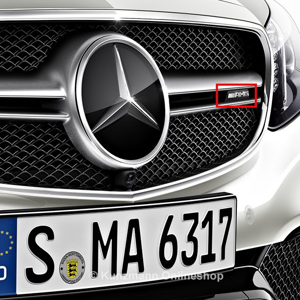 E 63 amg radiator grill logo e class w212 original for Pay mercedes benz online
