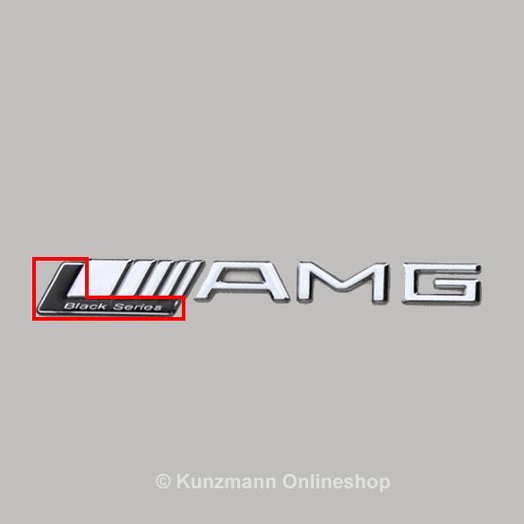 Black series logo emblem 63 65 amg genuine mercedes benz for Mercedes benz amg emblem