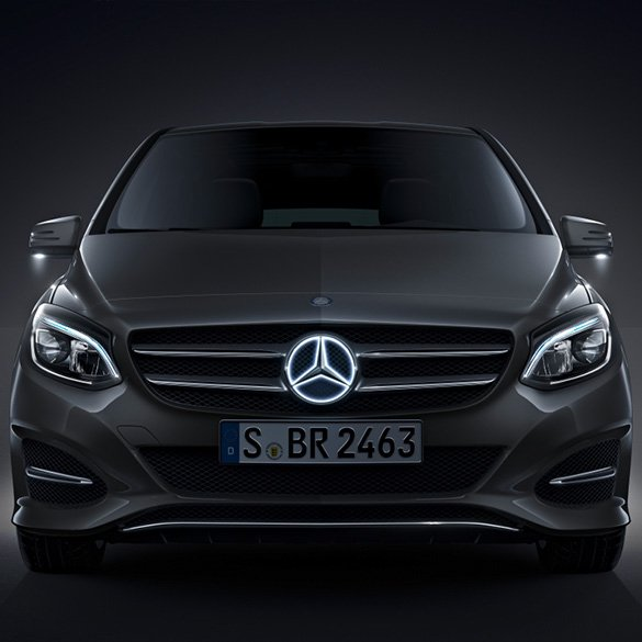 Mercedes star illuminated led technology genuine for Mercedes benz led star