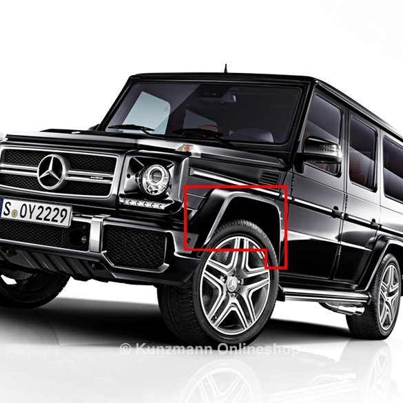 g 63 65 amg kofl gelverbreiterung g klasse w463 original mercedes benz. Black Bedroom Furniture Sets. Home Design Ideas