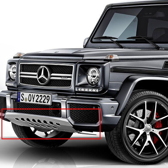 Stainless steel underride guard G-Class Edition 463 Original Mercedes-Benz