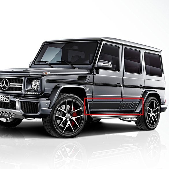 g 63 amg edition 463 seitliche zierstreifen foliensatz g klasse w463 original mercedes benz. Black Bedroom Furniture Sets. Home Design Ideas