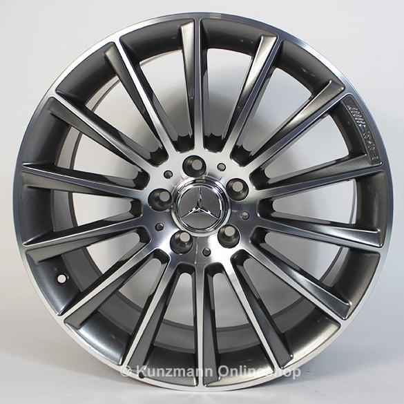 Amg 20 inch wheel set glc x253 c253 multi spoke wheel for Mercedes benz with rims