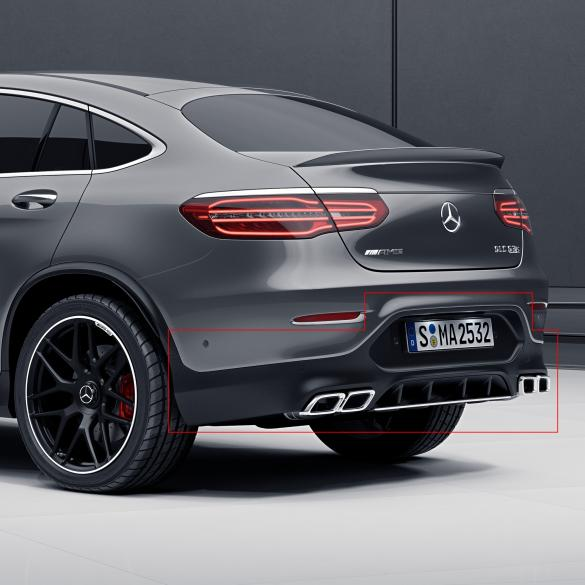 glc coupe 63 amg diffusor with exhaust tips genuine mercedes benz. Black Bedroom Furniture Sets. Home Design Ideas