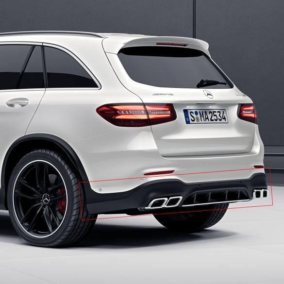 glc suv 63 amg diffusor with exhaust tips genuine. Black Bedroom Furniture Sets. Home Design Ideas