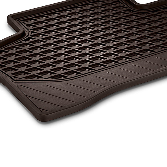 Rubber Floor Mats Espresso Brown 2 Piece Rear Seats Glc