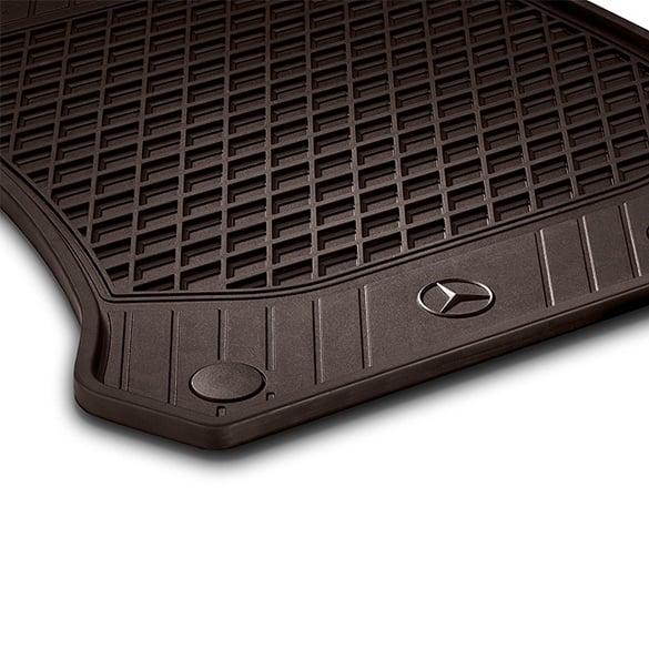Rubber floor mats espresso brown 2 piece glc x253 for Mercedes benz mats