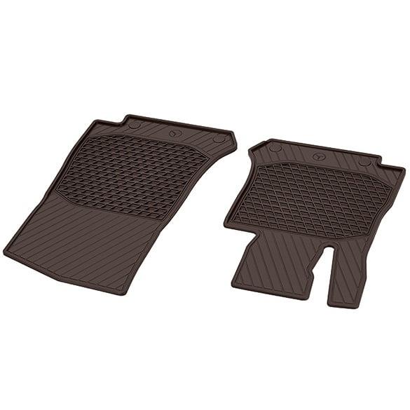 Rubber Floor Mats Espresso Brown 2 Piece Glc X253
