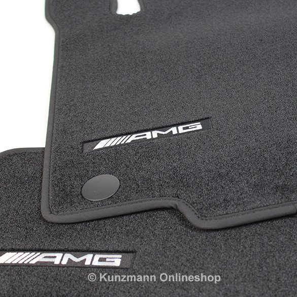 amg floor mats black gle coup c292 genuine mercedes benz. Black Bedroom Furniture Sets. Home Design Ideas