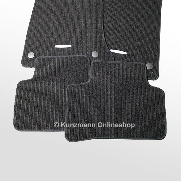 Car rib floor mats mercedes glk x204 original mercedes benz for Mercedes benz car floor mats
