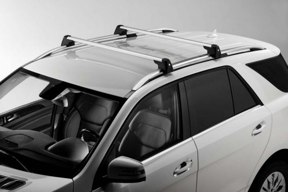 Roof rack base support rail carrier m class w166 for Mercedes benz roof rails