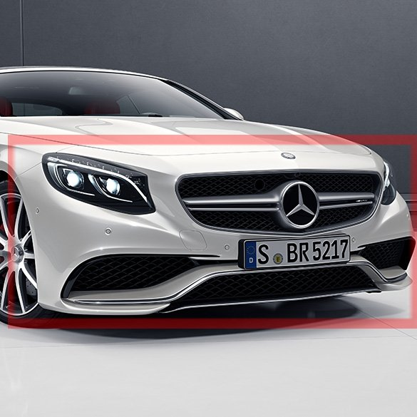 s 63 amg front bumper s-class coupe & cabriolet genuine mercedes-benz