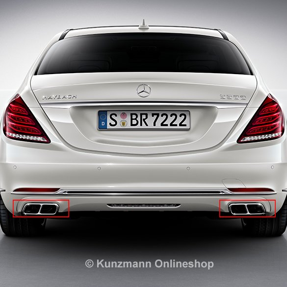 S600 maybach auspuffblenden chrom s klasse w222 original for Mercedes benz s600 ebay