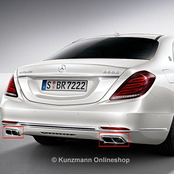S600 maybach exhaust tips s class w222 genuine mercedes benz for Mercedes benz s600 amg