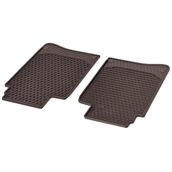 Rubber Floor Mats Espresso Brown Rear Seats S Class W222