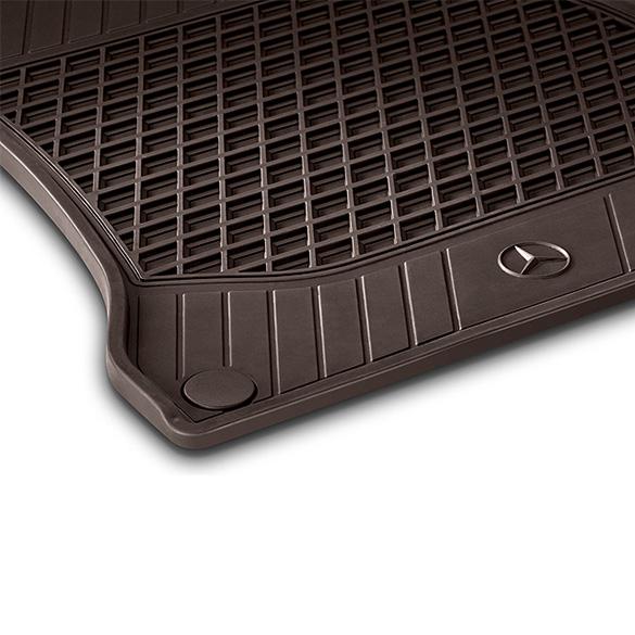 Rubber Floor Mats 2 Piece Espresso Brown S Class W222