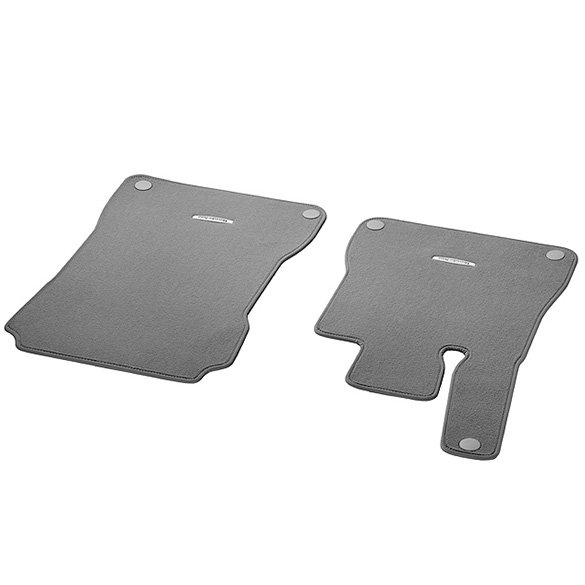 Velour floor mats flannel grey 2 piece sl r231 genuine for Mercedes benz sl550 floor mats