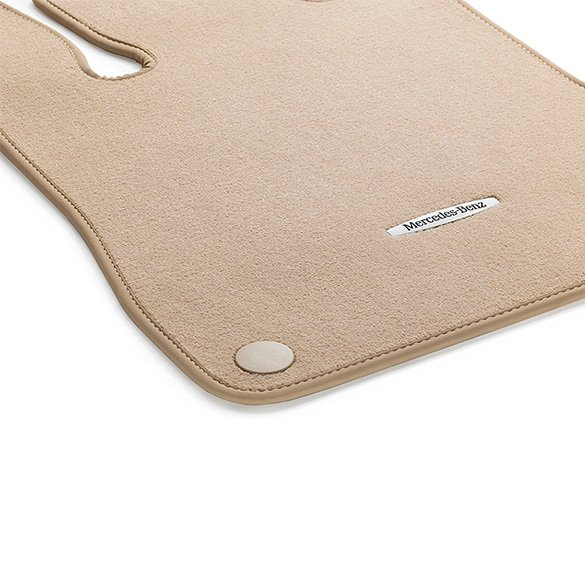 Velour floor mats ginger beige 2 piece sl r231 genuine for Mercedes benz sl550 floor mats
