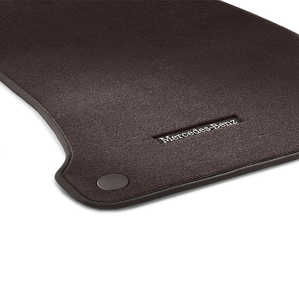 Velours car mats espresso brown e class w213 genuine for Mercedes benz e350 floor mats