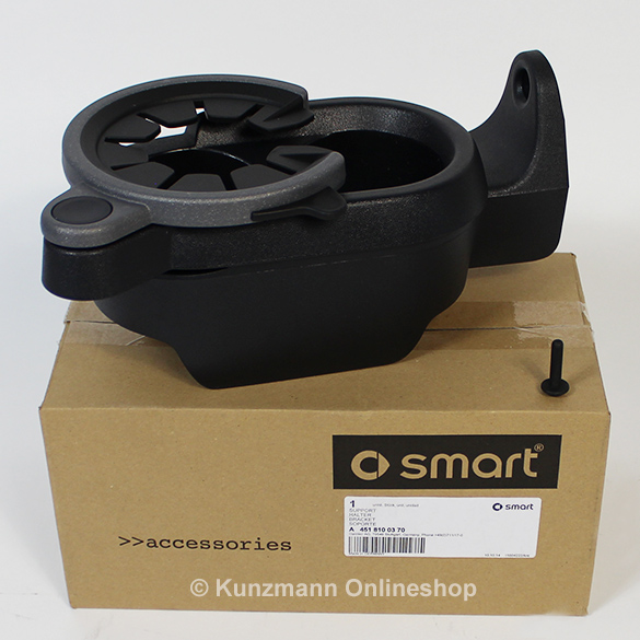 Cupholder Black Smart Fortwo 451 Genuine Smart