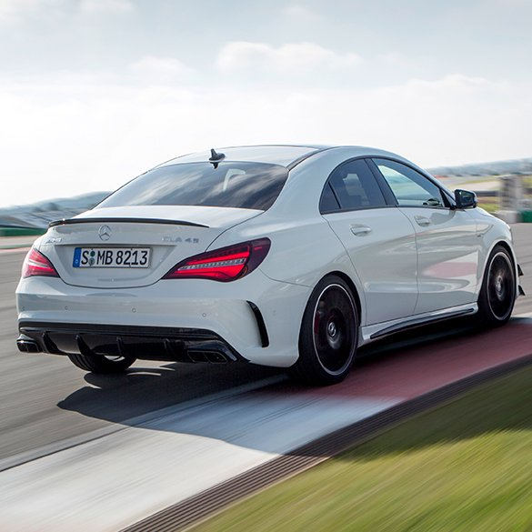 cla 45 amg rear spoiler cla c117 genuine mercedes benz. Black Bedroom Furniture Sets. Home Design Ideas